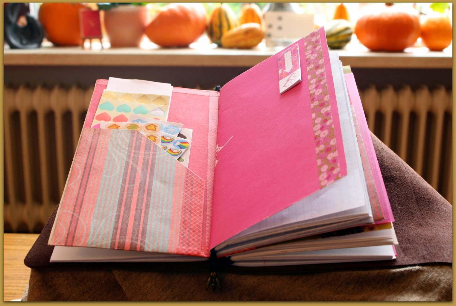 Midori fauxdori Travelers Notebook regular size open folder