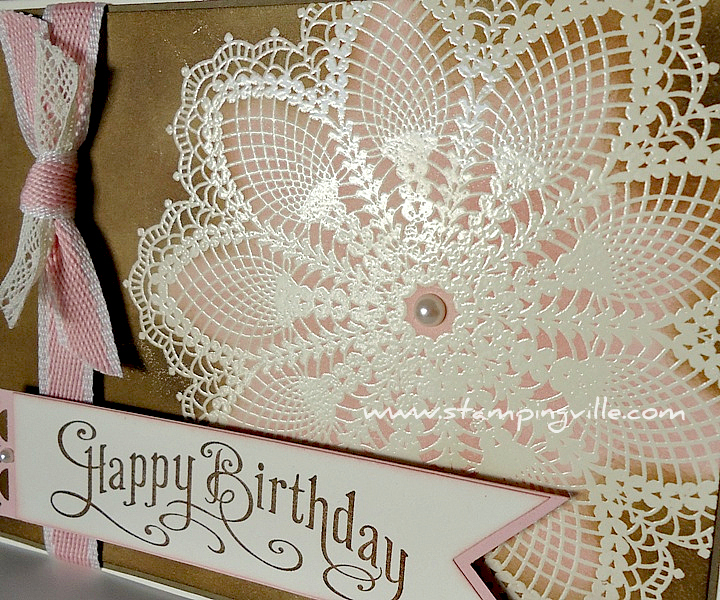 Stampin' Up! Hello Doily Stamp Emboss Resist Technique