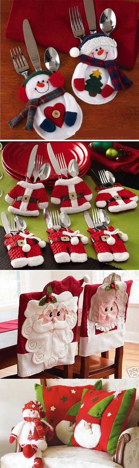 decoração de mesa e ceia de natal