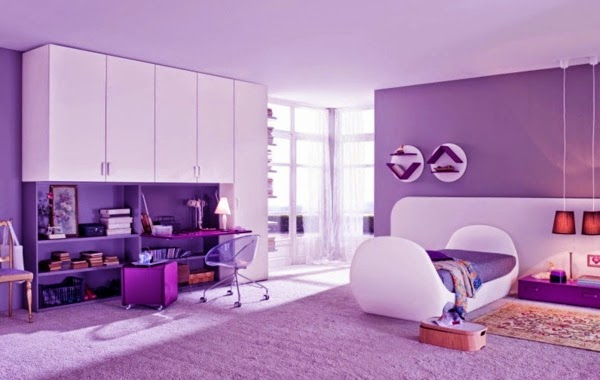 25 purple bedroom concepts curtains accessories and for Purple bedroom designs modern