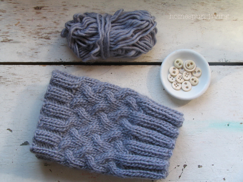 Free Knitting Pattern For Boot Cuffs : homespun living: thank you & a free boot cuff pattern