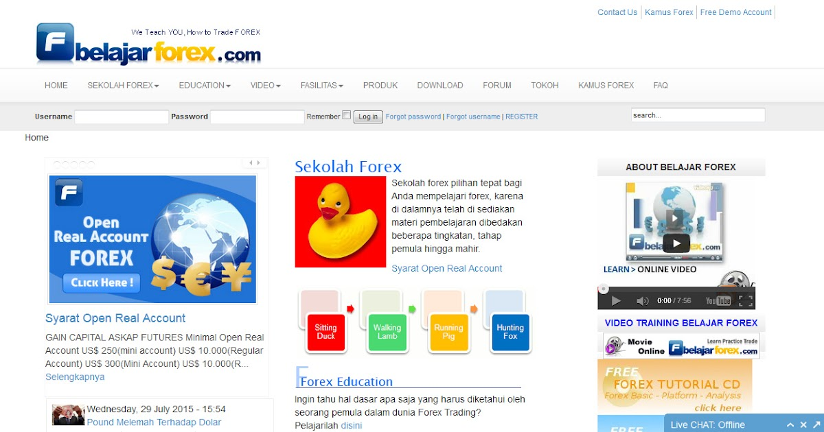 Belajar forex indonesia gratis
