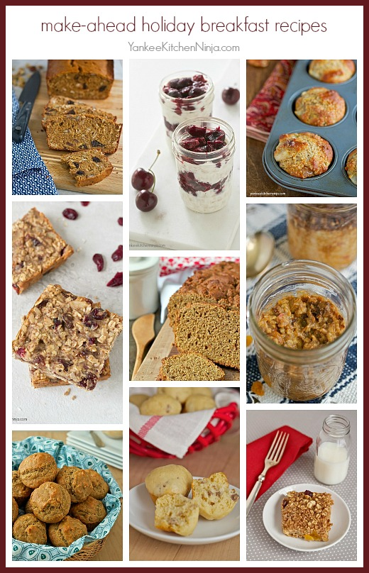 Easy make ahead holiday breakfast recipes: perfect for entertaining a houseful of holiday guests
