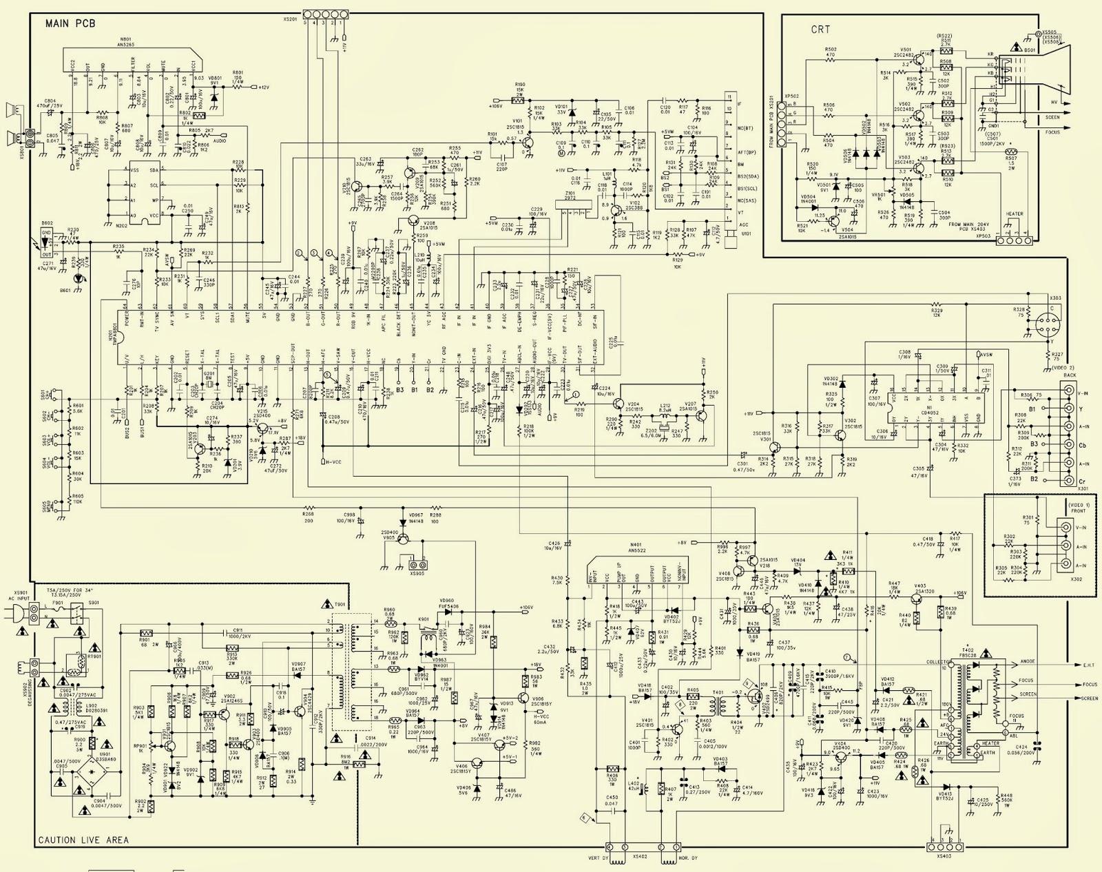 Схемы телевизоров старт