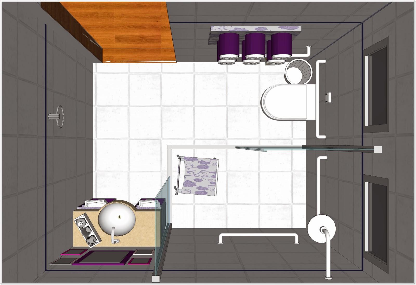 Banheiro para cadeirante DaDoee Projetos #B05E1B 1600 1097