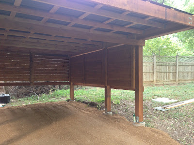 The urban dirt farmer modern design cedar carport for 20 x 25 garage kits