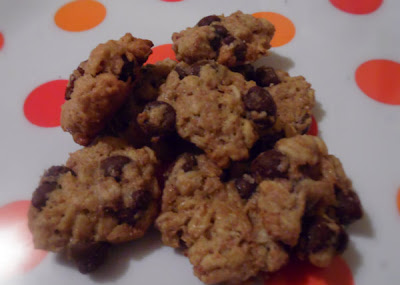 galletas de avena y chispas de chocolate