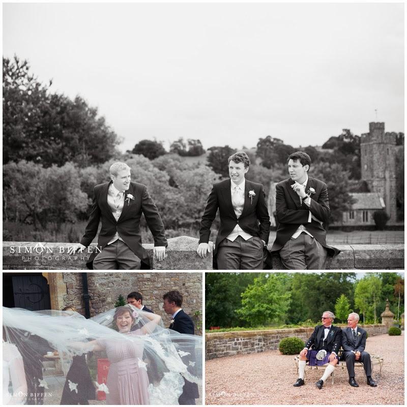 Documentary photographs at Huntsham Court wedding