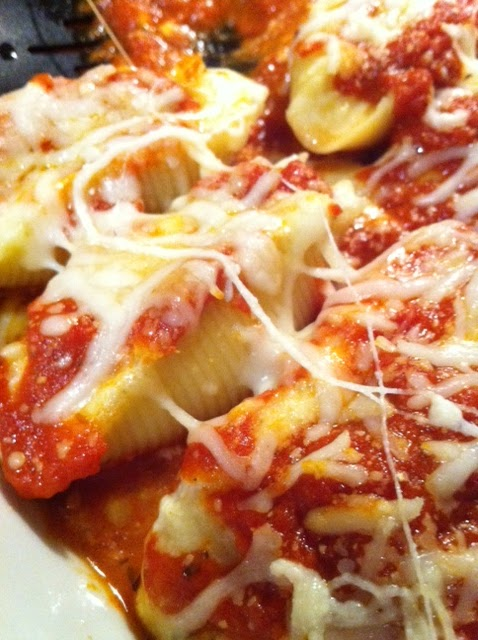 stuffed shells recipe on Katy's Kitchen
