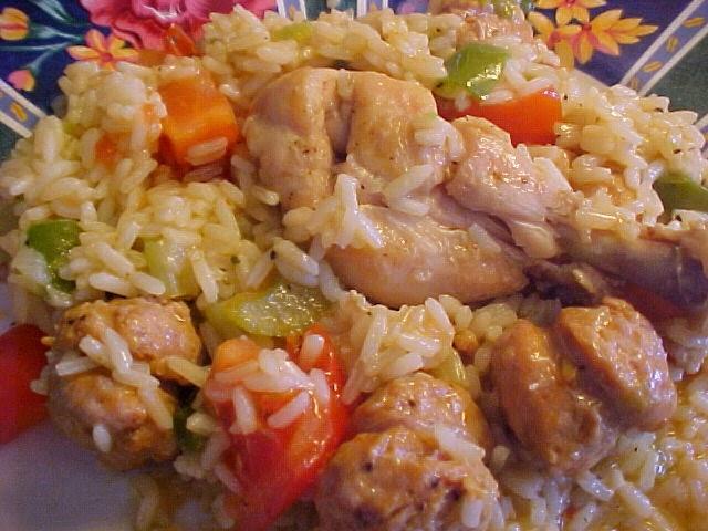 Jambalaya aux pilons de poulet et aux saucisses italiennes