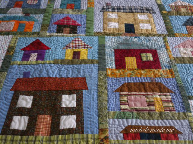 Quilting Patterns For Houses : michele made me: A Little House Quilt
