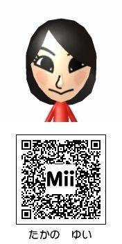 高野祐衣(NMB48)のMii QRコード トモダチコレクション新生活