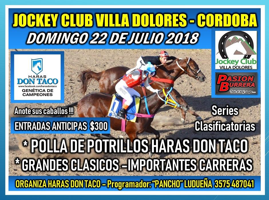 VILLA DOLORES - 22 DE JULIO
