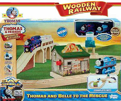 Day of the Diesels toy train model wooden railway Thomas set Belle to the rescue with water truck