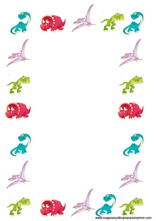 Dinosaurios en folios para imprimir