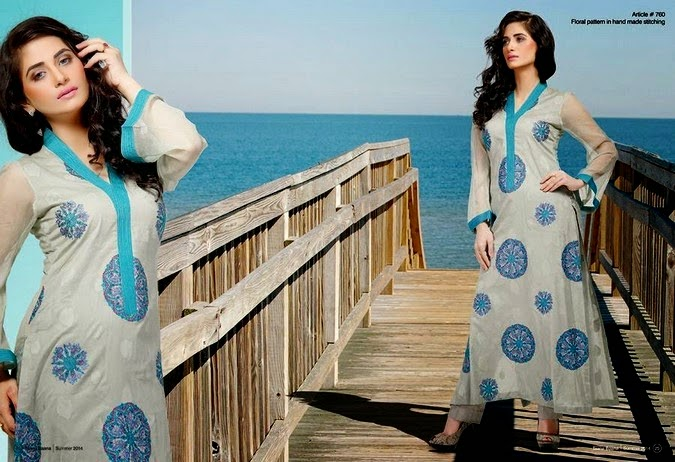Light Colors with Light Embroidery Work in Taana Baana Dresses