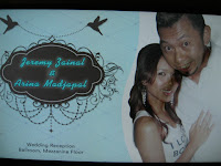 The poster of wedding couple Jeremy and Arina