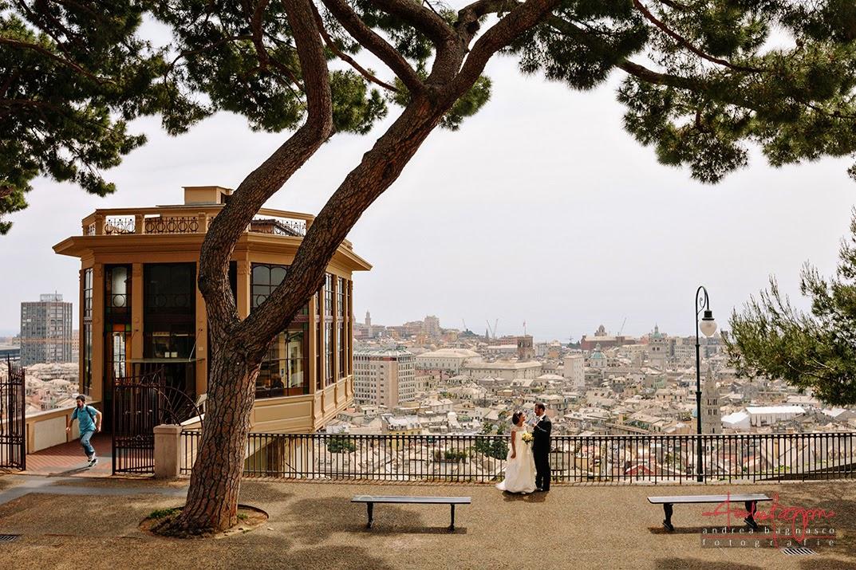 sposi a spianata Castelletto matrimonio Genova