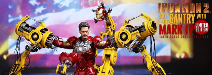 Hot Toys Iron Man 2: 1/6th scale Suit-Up Gantry with Mark IV