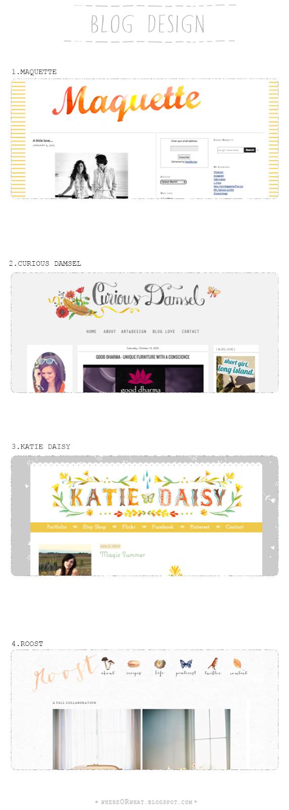 whereorwhat blog blog design