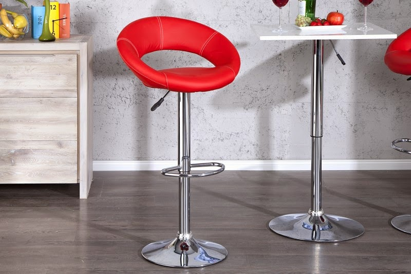 dizajnove stolicky k baru, moderne barove stolicky, stolicka cervena