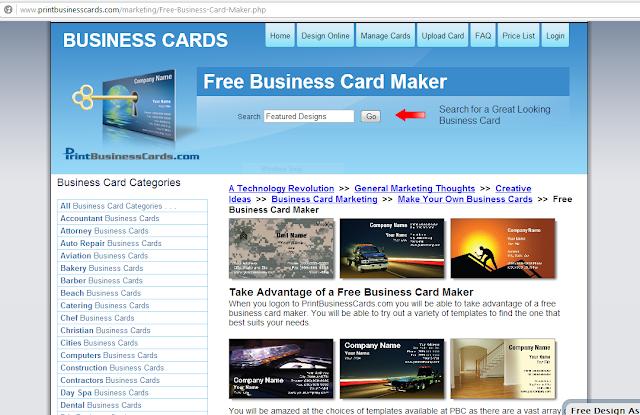 Best Free line Business Card Maker Digitophile