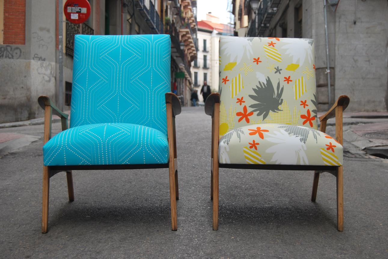 La tapicera butacas escandinavas iguales tapizadas con - Butacas tapizadas modernas ...
