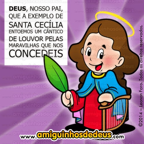 santa cecília desenho