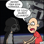 tirinha do talco e do star wars