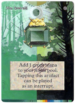 Mox Emerald Altered art magic the gathering card artwork mtg altered art Eric Klug alters Magic altered art gallery eric klug mtg