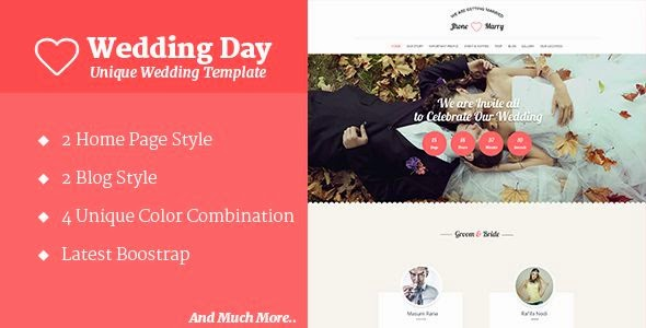 Best Responsive Wedding HTML Template