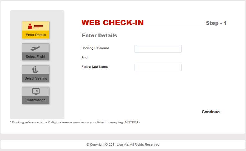 Lion Air Web Check-in ...