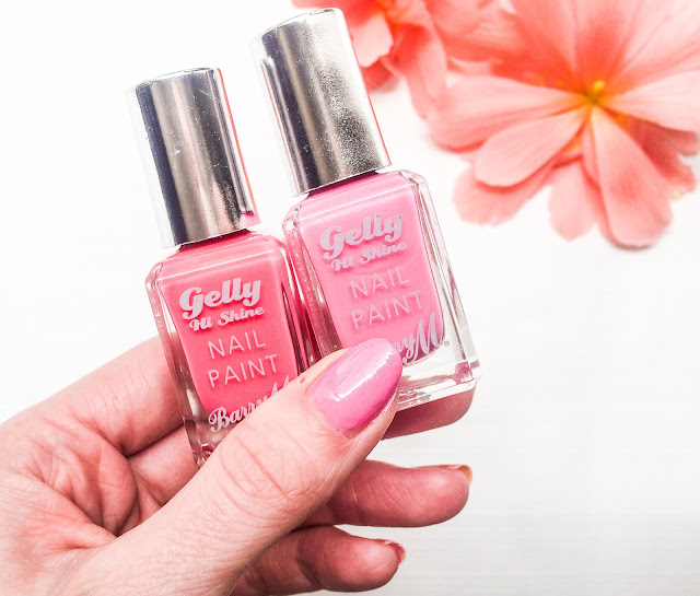 The Pink Barry M Hi Shine Gel Effect Nail Paints
