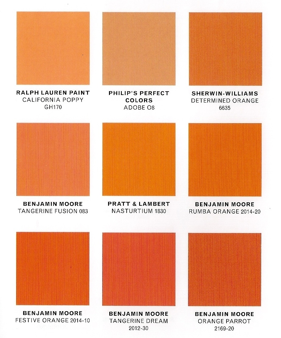 The Three Paint Colors We Decided To Sample: DESIGN GLORY: COLOR PUNCH: VIBRANT ORANGE