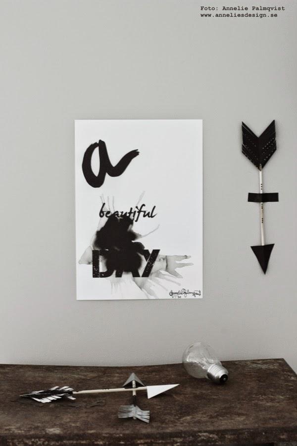 diy pilar, svart vitt och grått, svartvit poster, svartvita posters, affisch, tryck, print, prints, artprint, artprints, konsttryck, a beautiful day, pil, på vägen, washitejp,