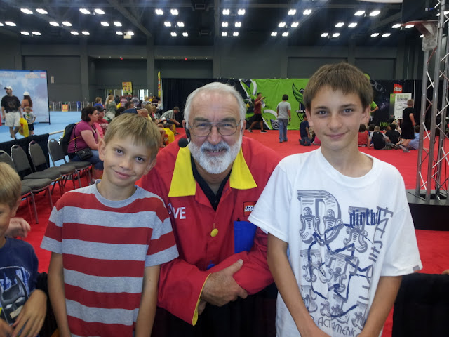 Master Model Builder Stephen Gerling graciously posed with the boys for my parent review