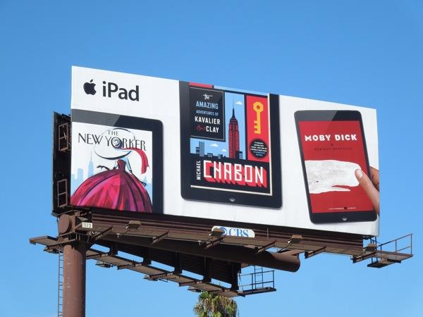 iPad New Yorker Chabon Moby Dick billboard