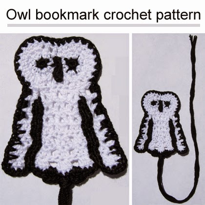 Owl bookmark crochet pattern