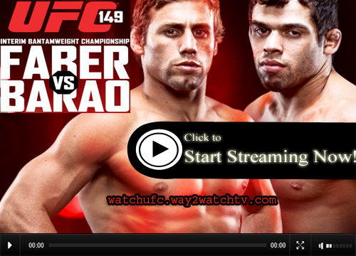 Watch Faber vs Barao Live Stream UFC 149 Fighting Online