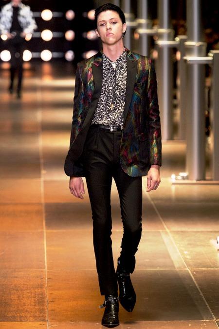 Wyatt Shears - The Garden - Saint Laurent Spring/Summer 2014 fashion show