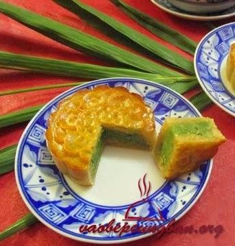Bánh trung thu nướng nhân trà xanh đơn giản