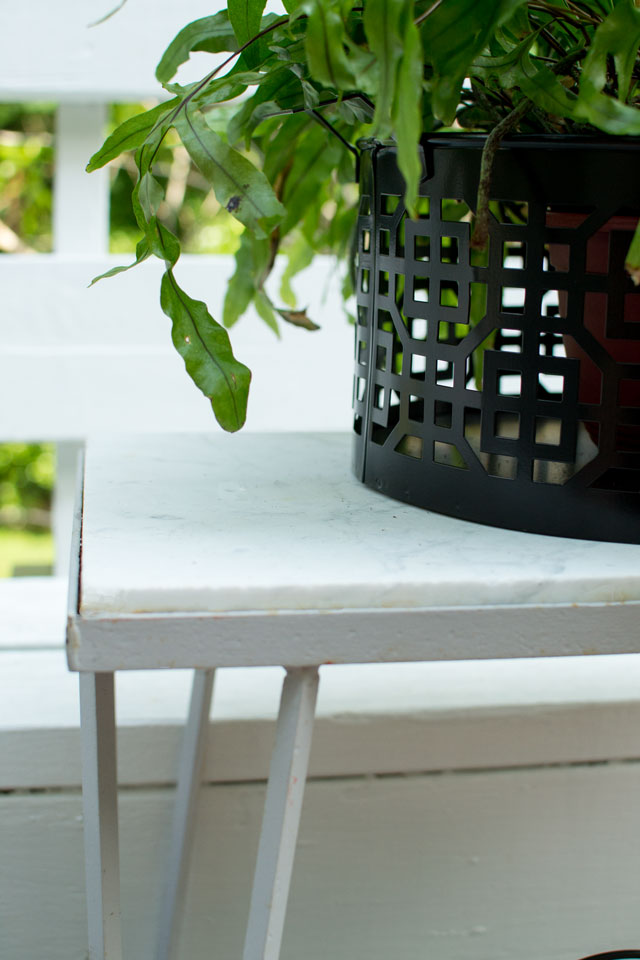 marble top outdoor table