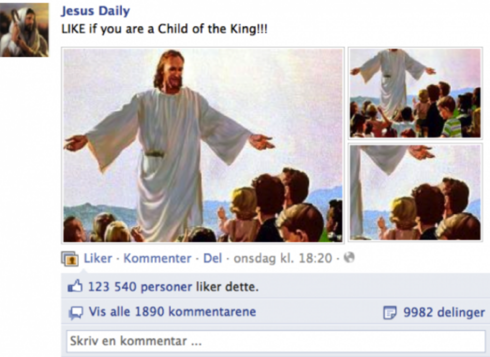 Jesus Dailey på Facebook
