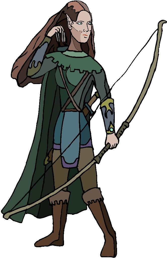 Standing Archer Warrior Free Clipart