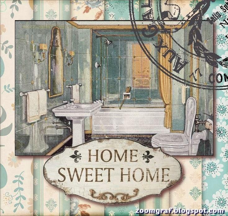Imagenes De Baño Vintage:ZOOM DISEÑO Y FOTOGRAFIA: 26 láminas sal de bain para decoupage