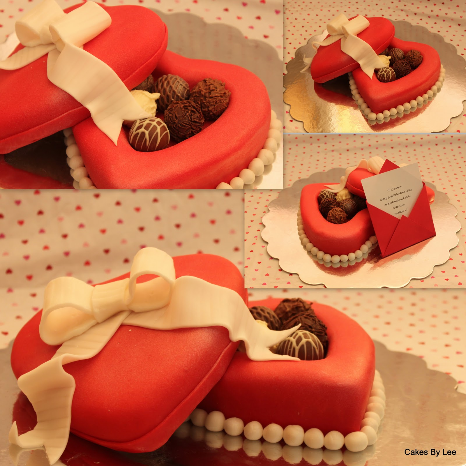 cakes by lee heart shaped cake box with candies. Black Bedroom Furniture Sets. Home Design Ideas