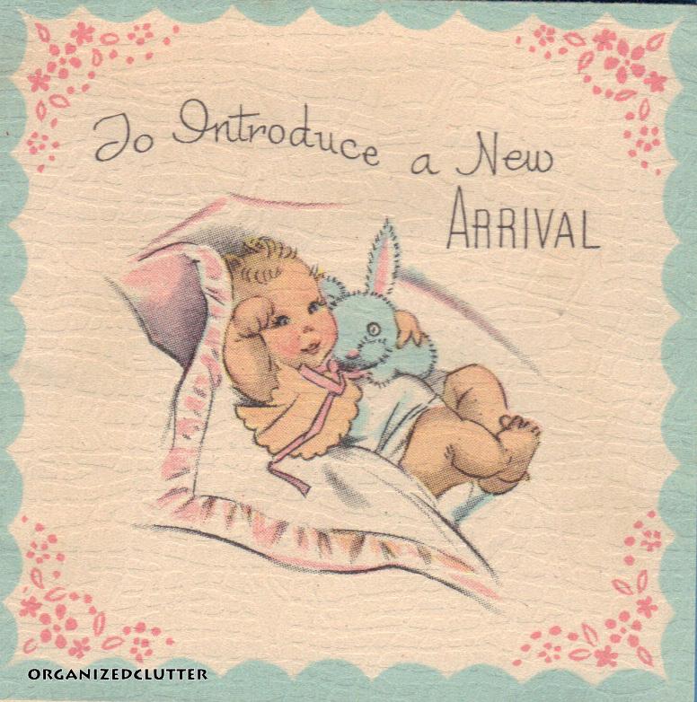Organized Clutter Nostalgia Day 26 Vintage Baby Announcements – Vintage Birth Announcement