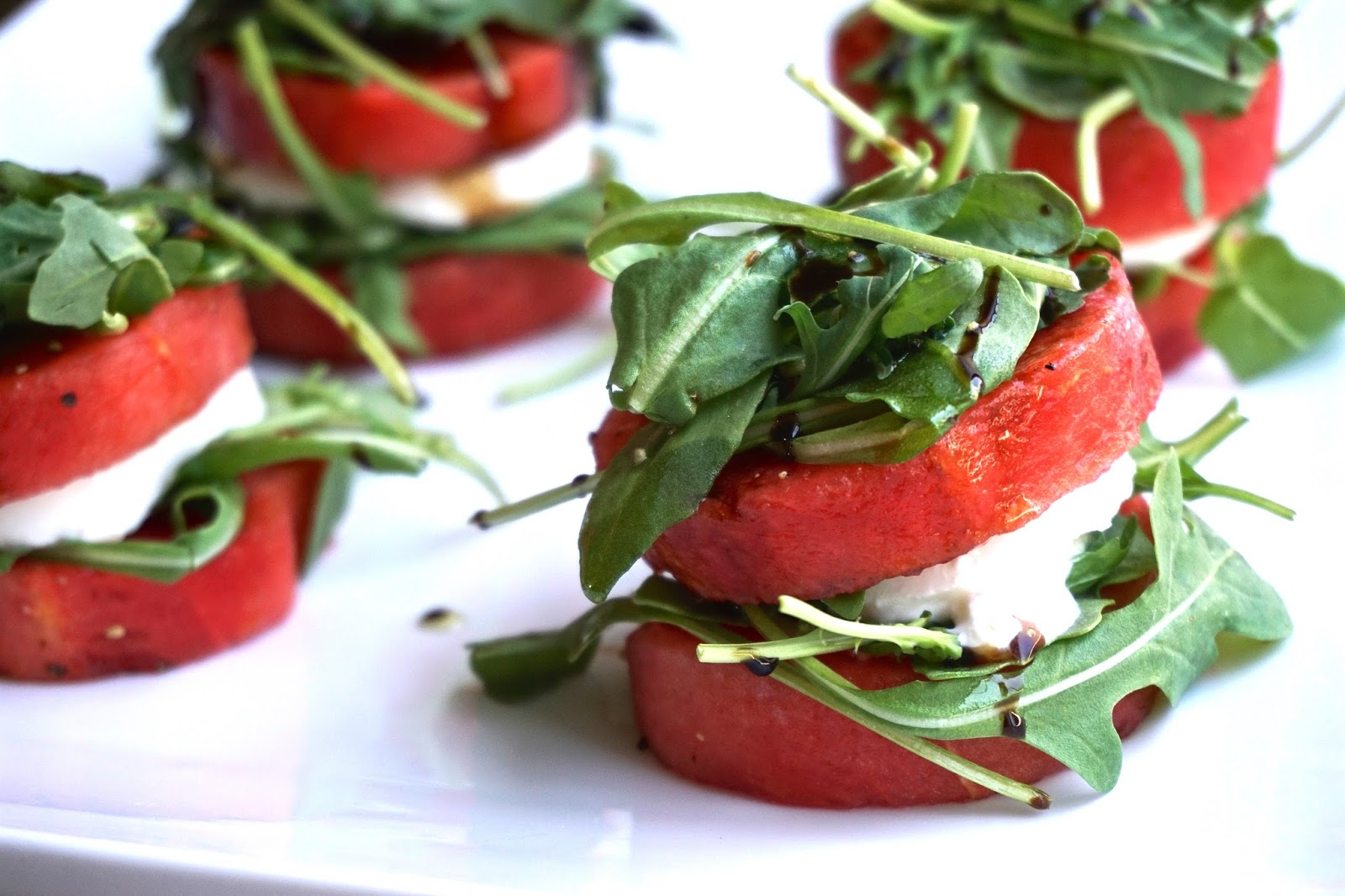 This Couple's Palate: Watermelon Salad Stacks