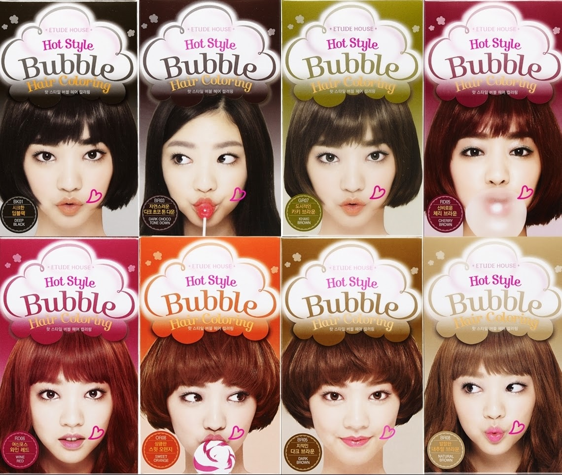 Review Etude House Hot Style Bubble Hair Coloring In Natural Brown