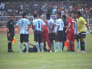 Divisi Utama Persenga Nganjuk VS PSBI Blitar Ricuh